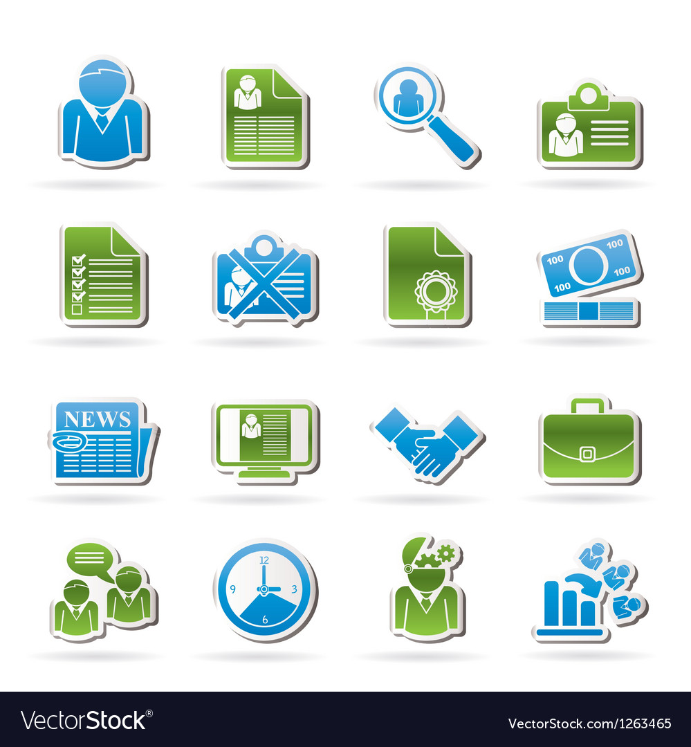 Employment and jobs icons vector | Price: 1 Credit (USD $1)
