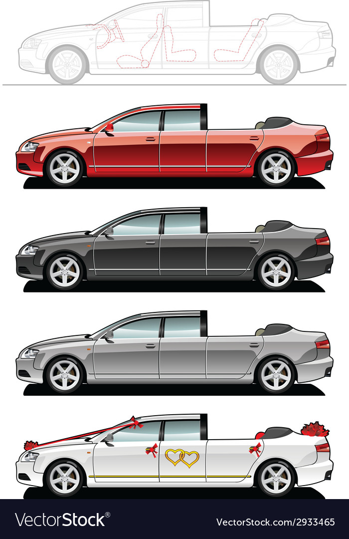 Landaulet wedding cars vector | Price: 1 Credit (USD $1)