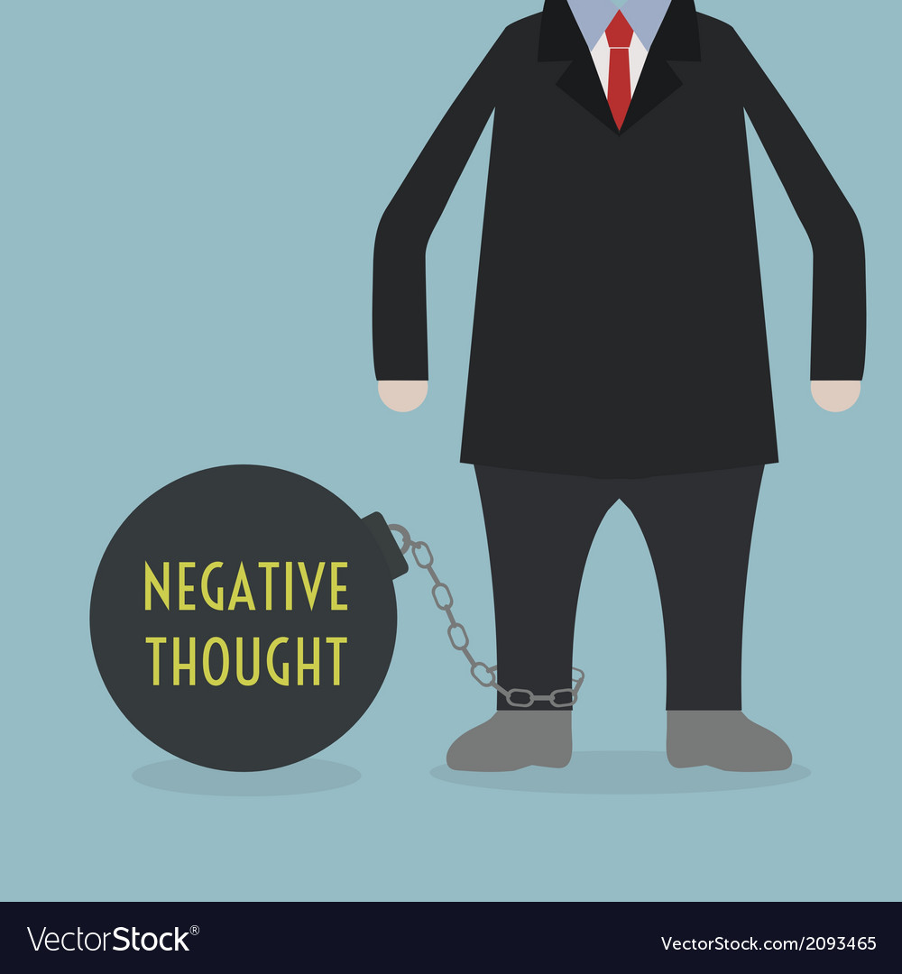 Negativethought vector | Price: 1 Credit (USD $1)