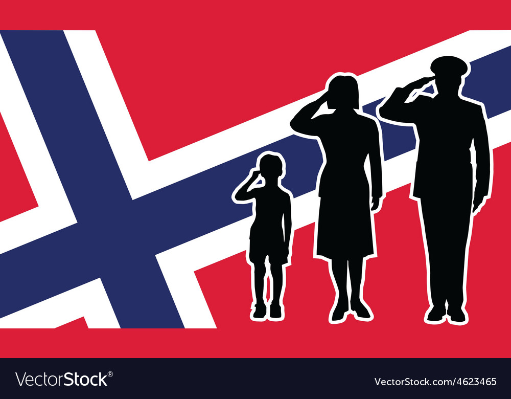 Norway soldier family salute vector | Price: 1 Credit (USD $1)