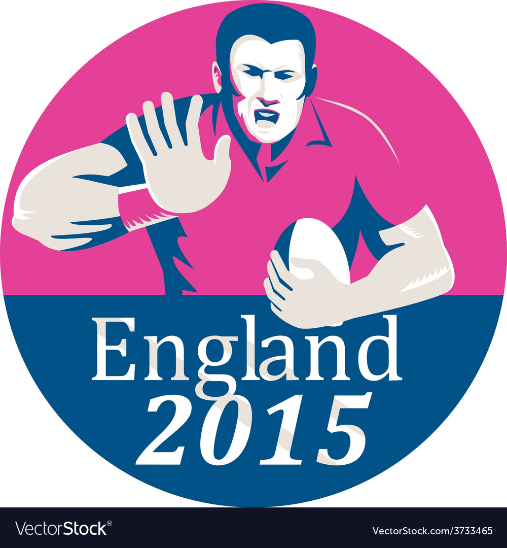 Rugby player fending england 2015 circle vector   Price: 1 Credit (USD $1)
