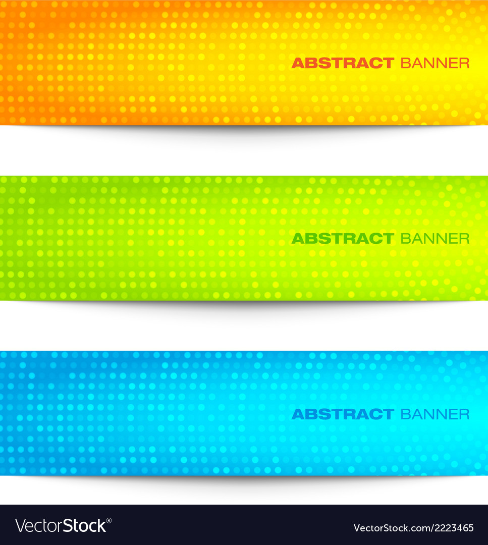 Set of colorful bright circular pixel banners vector | Price: 1 Credit (USD $1)