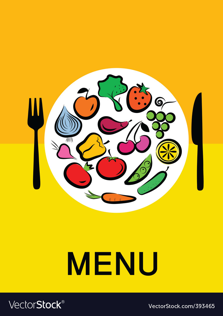 Vegetables in dinner vector | Price: 1 Credit (USD $1)