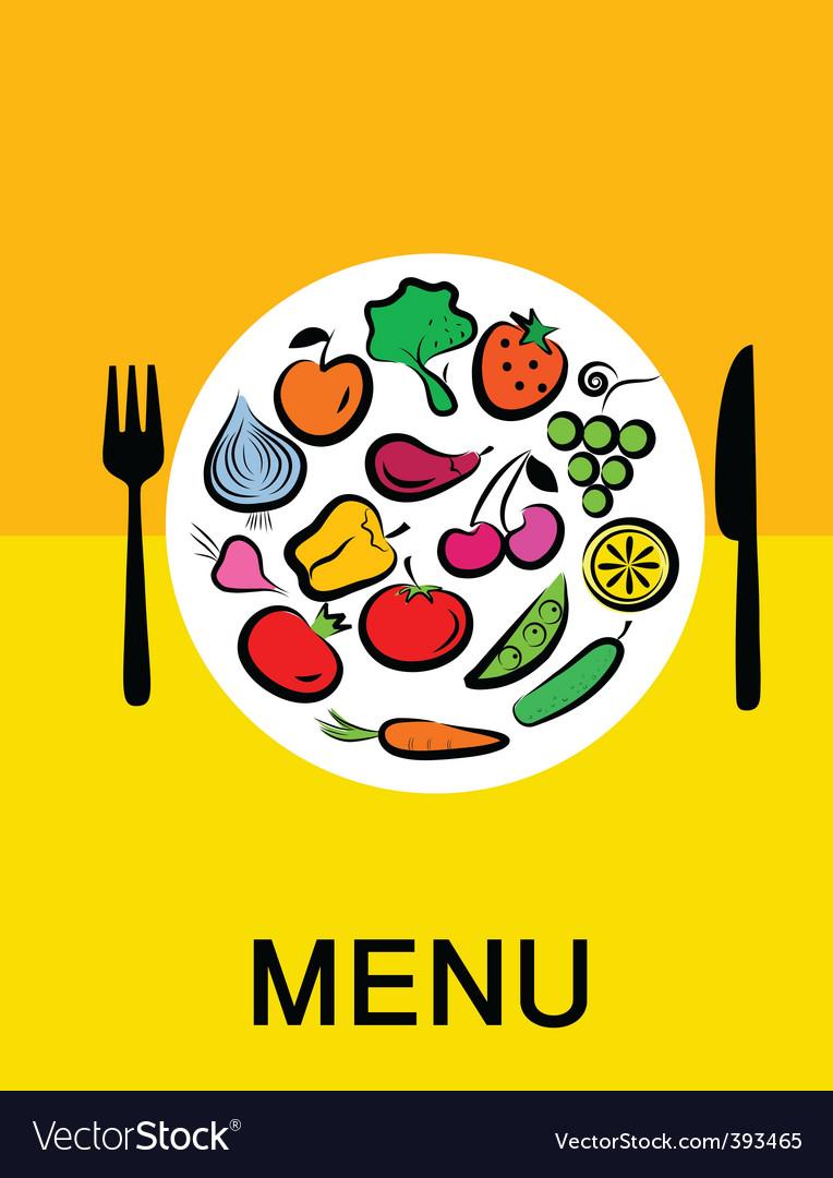 Vegetables in dinner vector | Price: 1 Credit (USD $1)