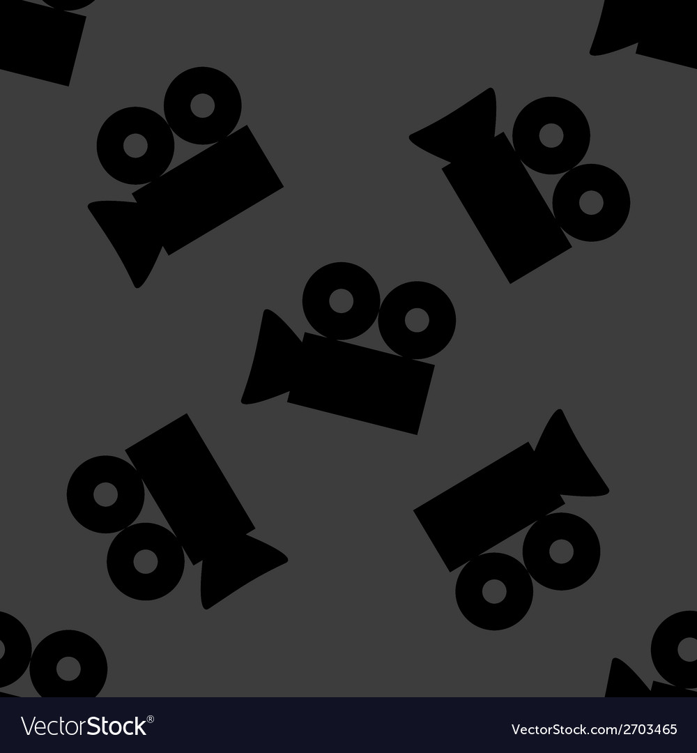 Video-camera web icon flat design seamless gray vector | Price: 1 Credit (USD $1)