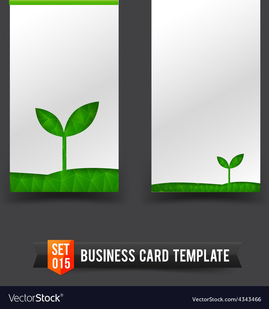 Business card template set 15 ecology concept vector | Price: 1 Credit (USD $1)