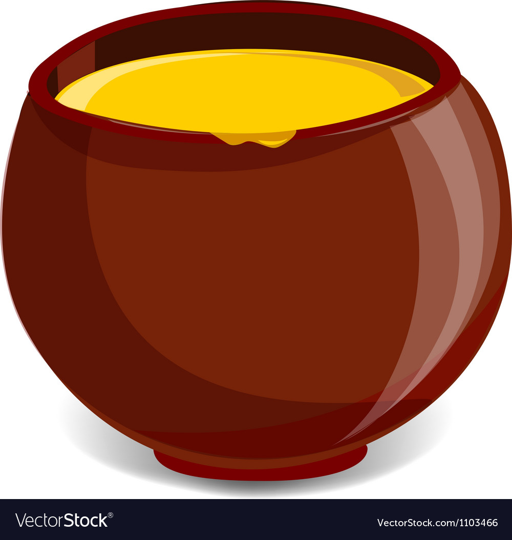 Pot full of honey vector | Price: 1 Credit (USD $1)