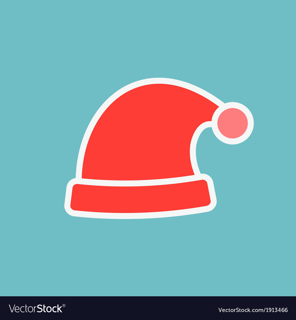 Red santa hats vector | Price: 1 Credit (USD $1)