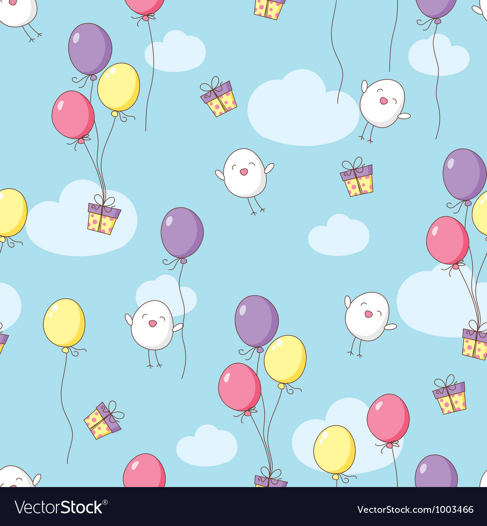 Seamless birthday pattern vector | Price: 1 Credit (USD $1)