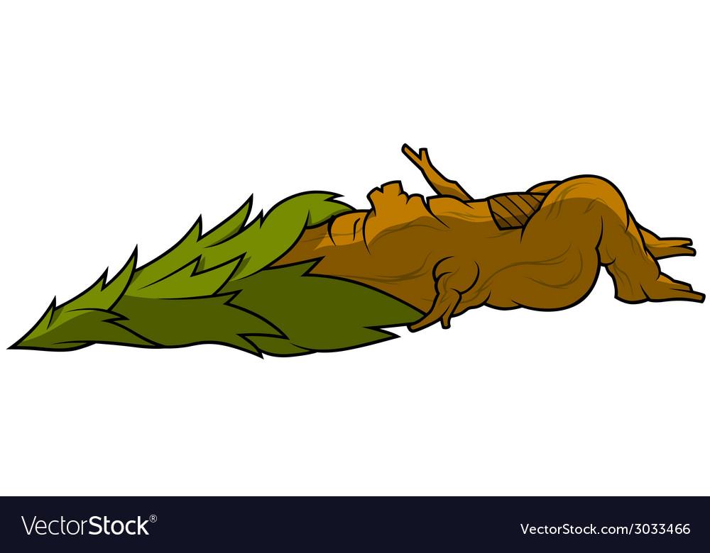 Sleeping tree vector | Price: 1 Credit (USD $1)