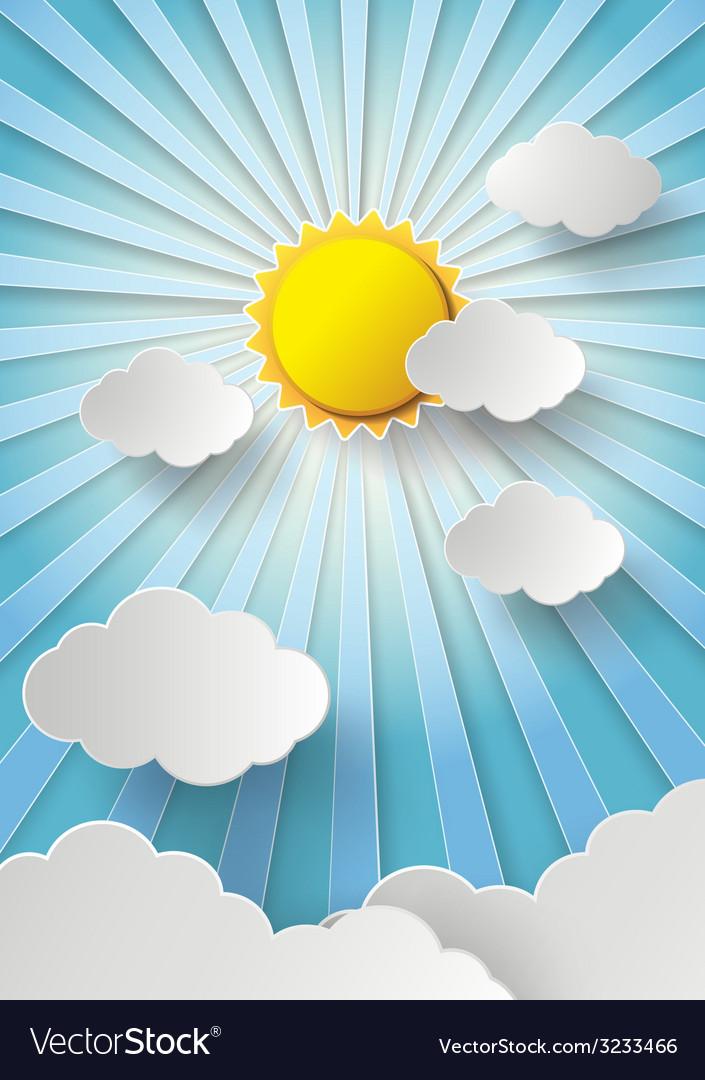 Sun shine vector | Price: 1 Credit (USD $1)