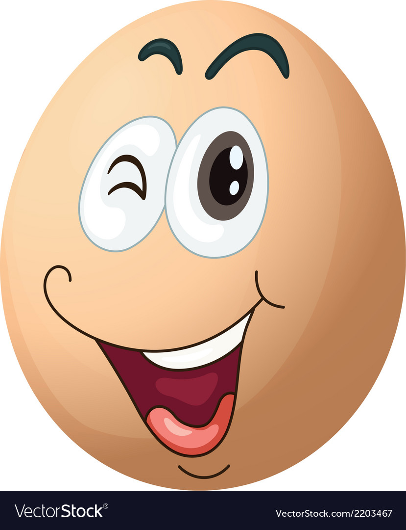 A smiling egg vector | Price: 1 Credit (USD $1)