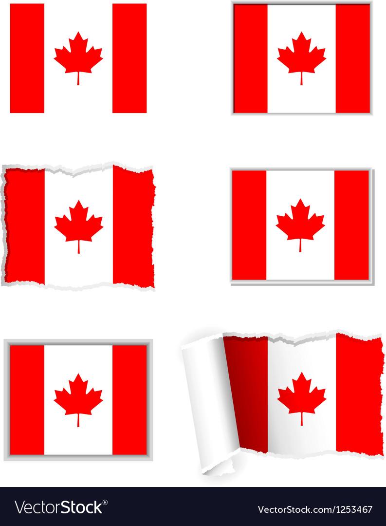 Canada flag set vector   Price: 1 Credit (USD $1)