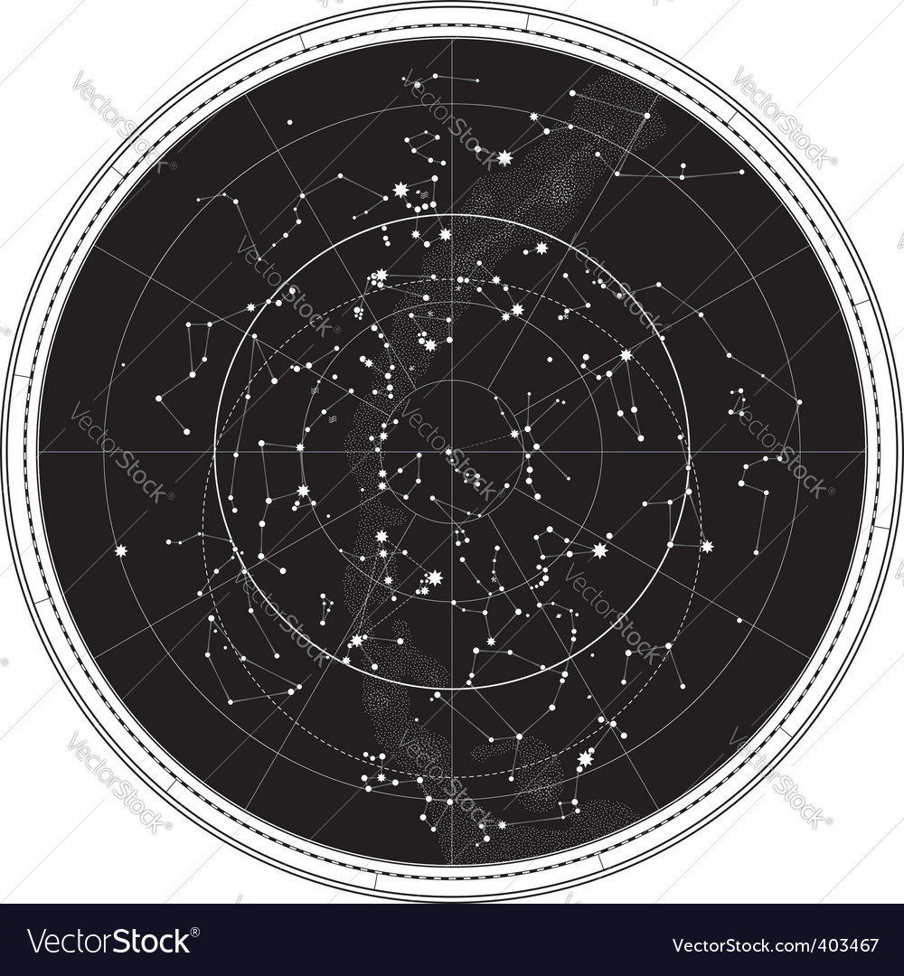 Celestial map vector | Price: 1 Credit (USD $1)