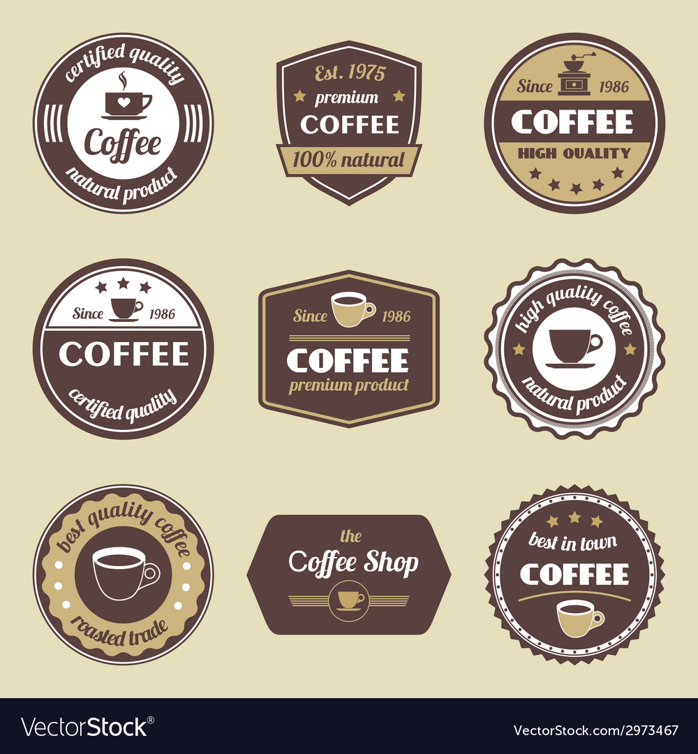 Coffee label set vector | Price: 1 Credit (USD $1)