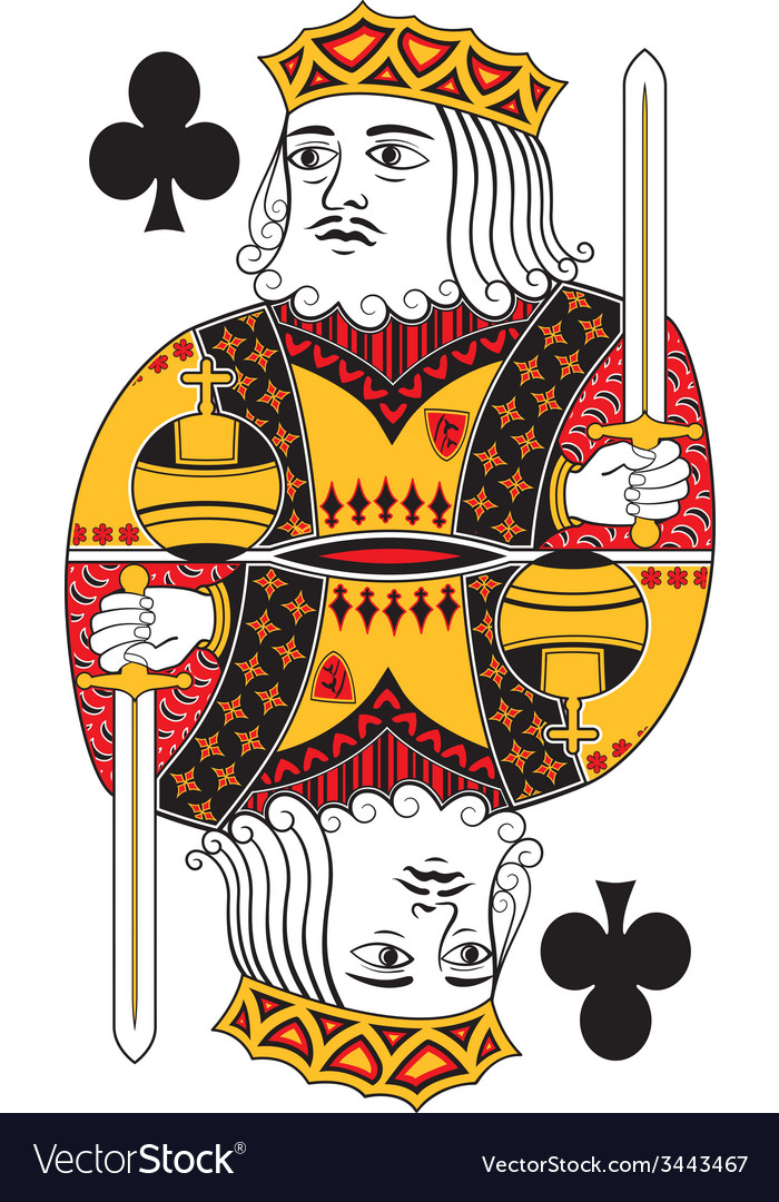 King of clubs no card vector | Price: 1 Credit (USD $1)