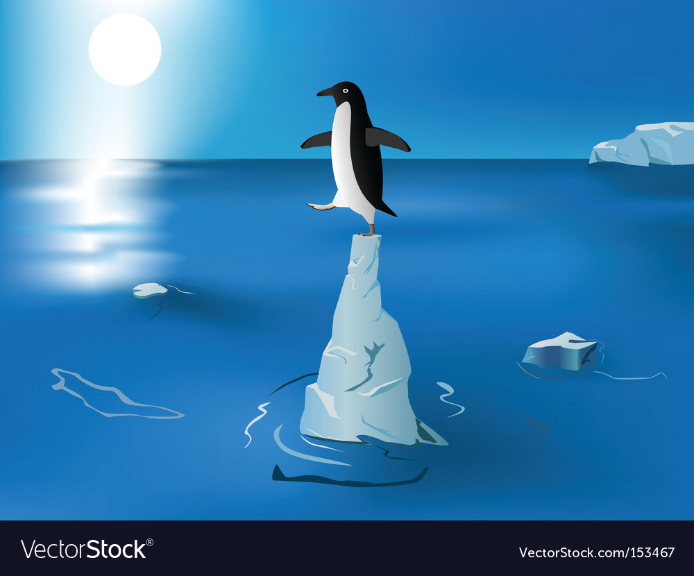 Melting iceberg vector | Price: 1 Credit (USD $1)