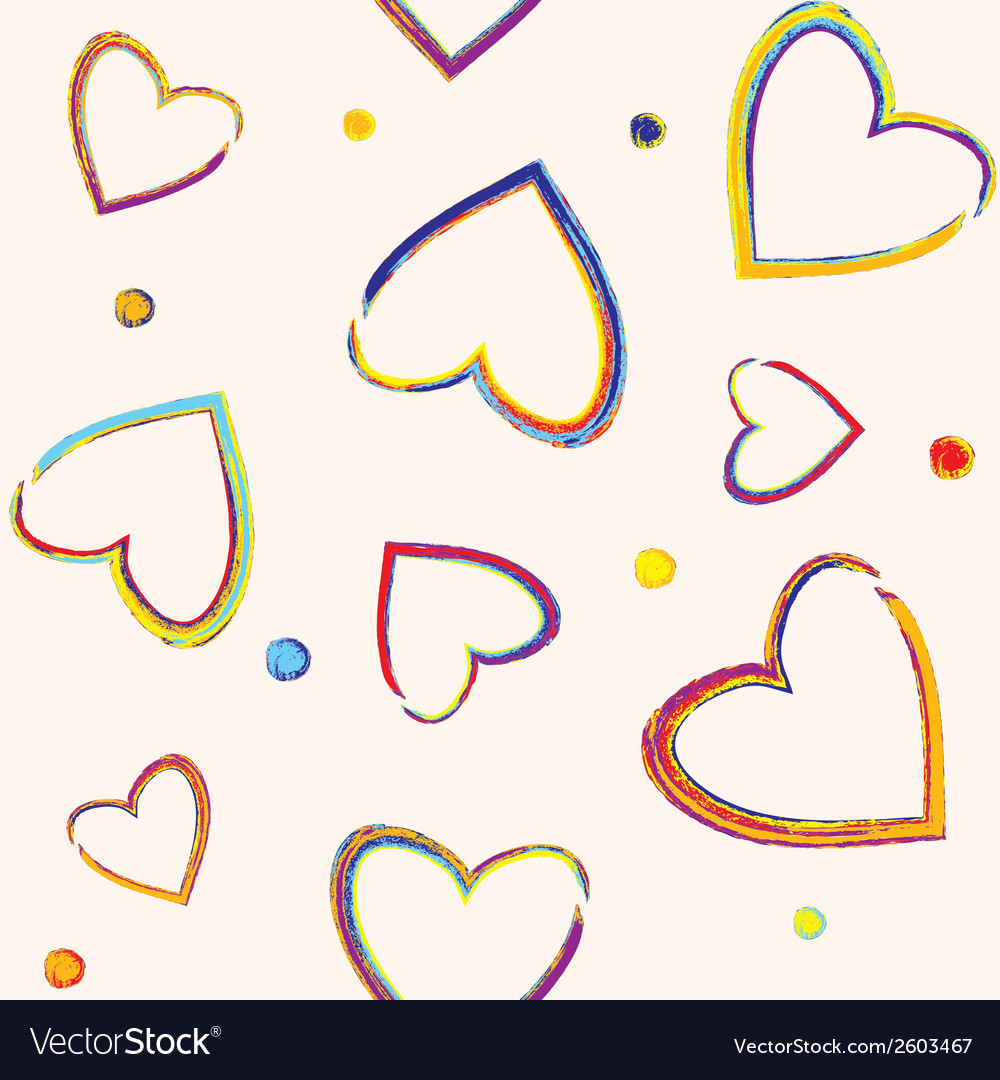 Seamless pattern with pencil hearts vector | Price: 1 Credit (USD $1)