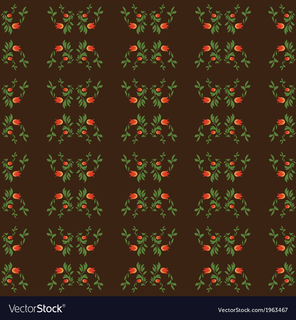 Seamless patterns on brown background vector | Price: 1 Credit (USD $1)