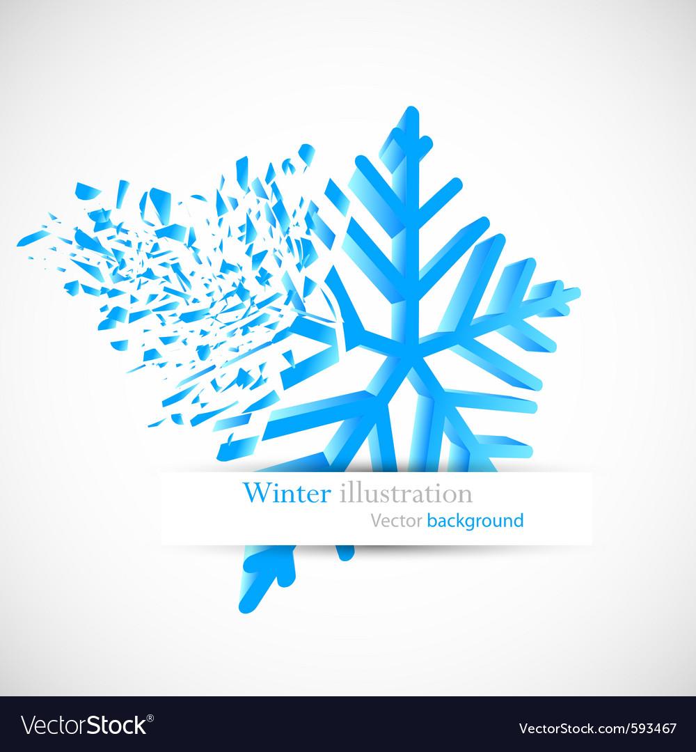 Snowflake with debris vector | Price: 1 Credit (USD $1)