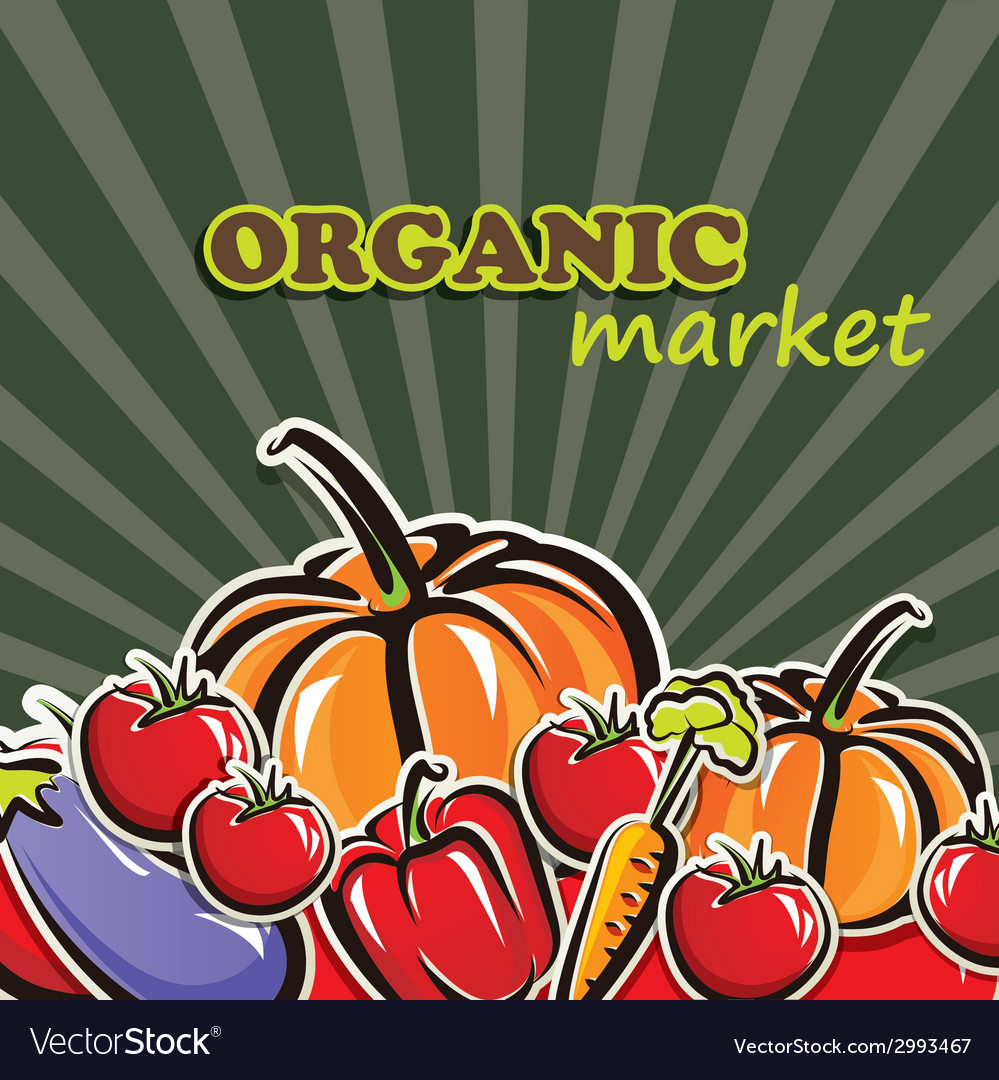 Vegetables organic food concept vector | Price: 1 Credit (USD $1)