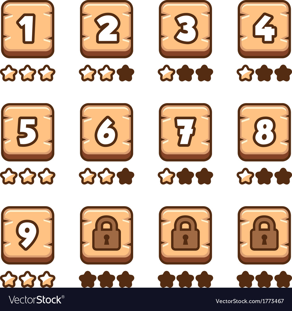 Wooden level selection vector | Price: 1 Credit (USD $1)