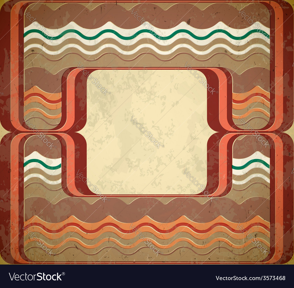 60s styled grungy frame vector | Price: 1 Credit (USD $1)