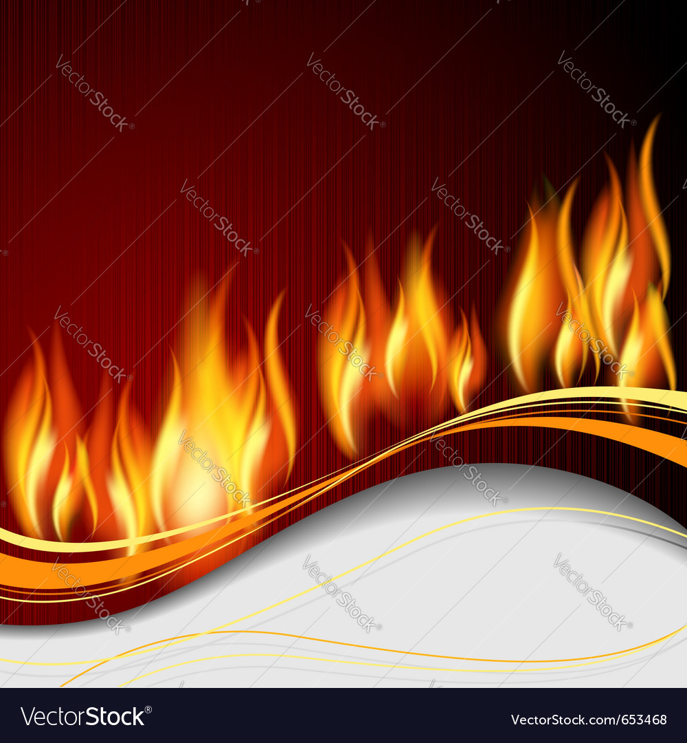 Background with flames vector | Price: 1 Credit (USD $1)