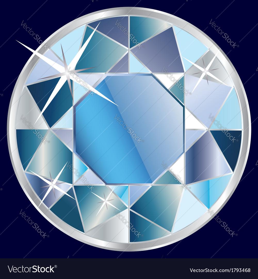 Blue diamond vector | Price: 1 Credit (USD $1)