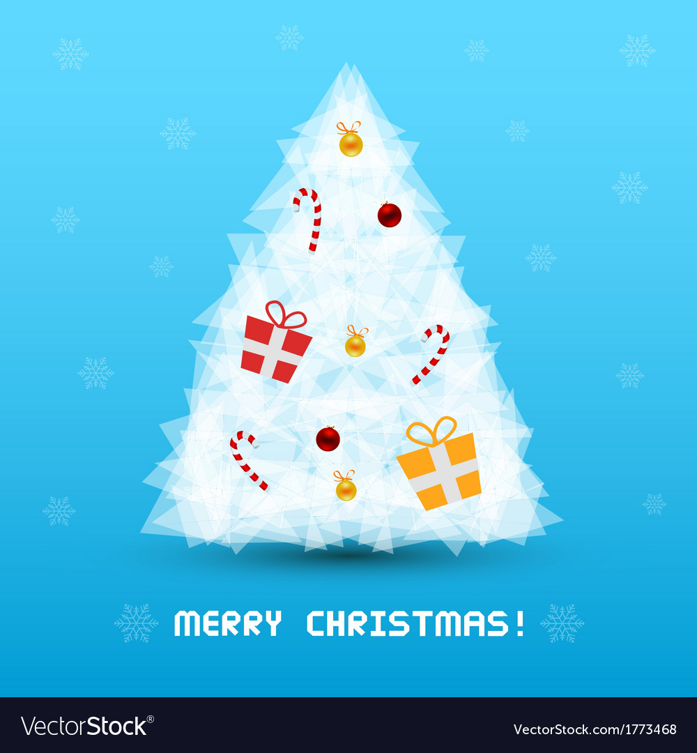 Christmas tree card3 vector | Price: 1 Credit (USD $1)
