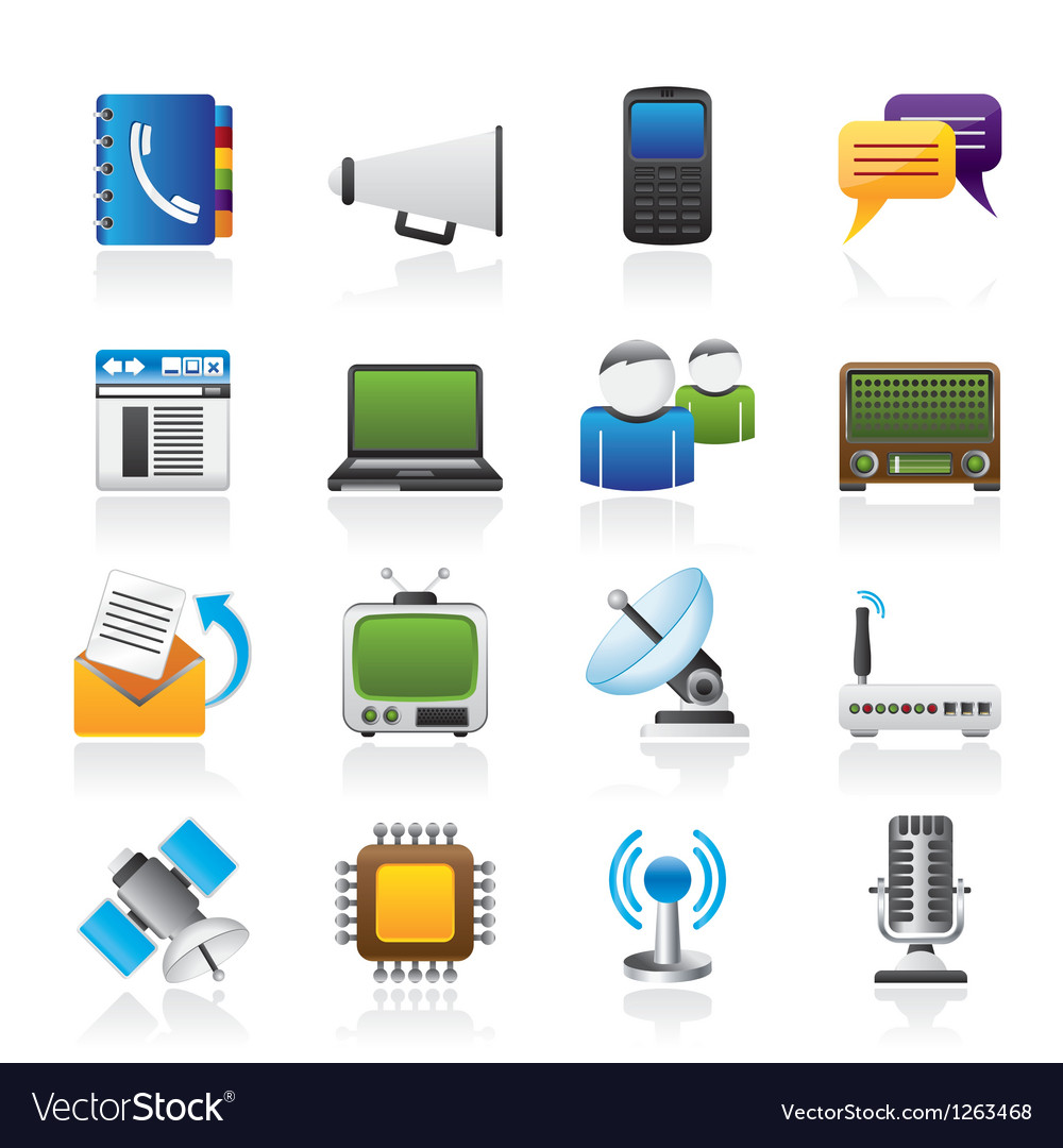 Connection and technology icons vector | Price: 3 Credit (USD $3)