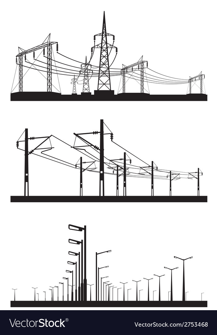 Electrical installations set vector | Price: 1 Credit (USD $1)