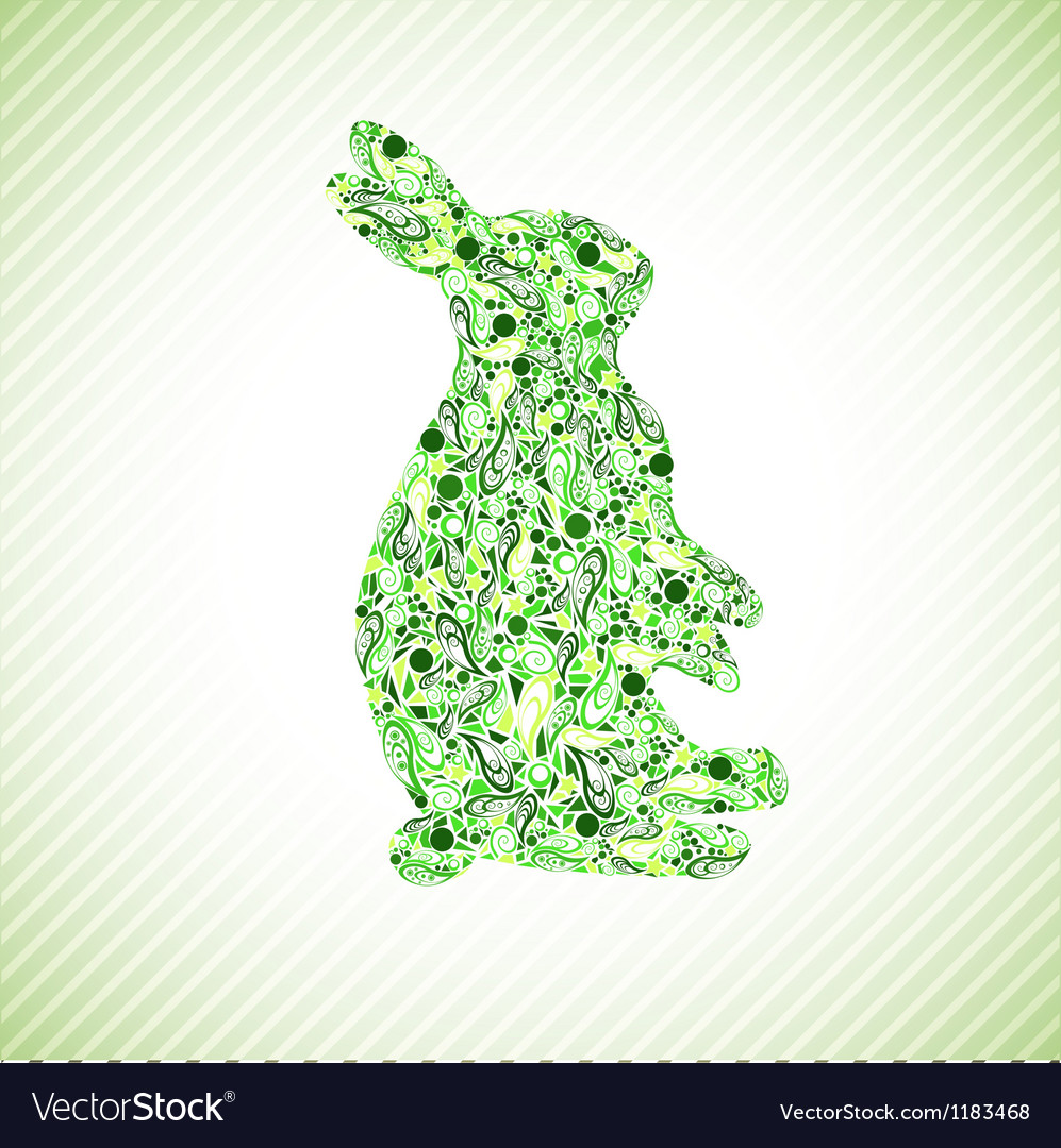 Green rabbit vector | Price: 1 Credit (USD $1)