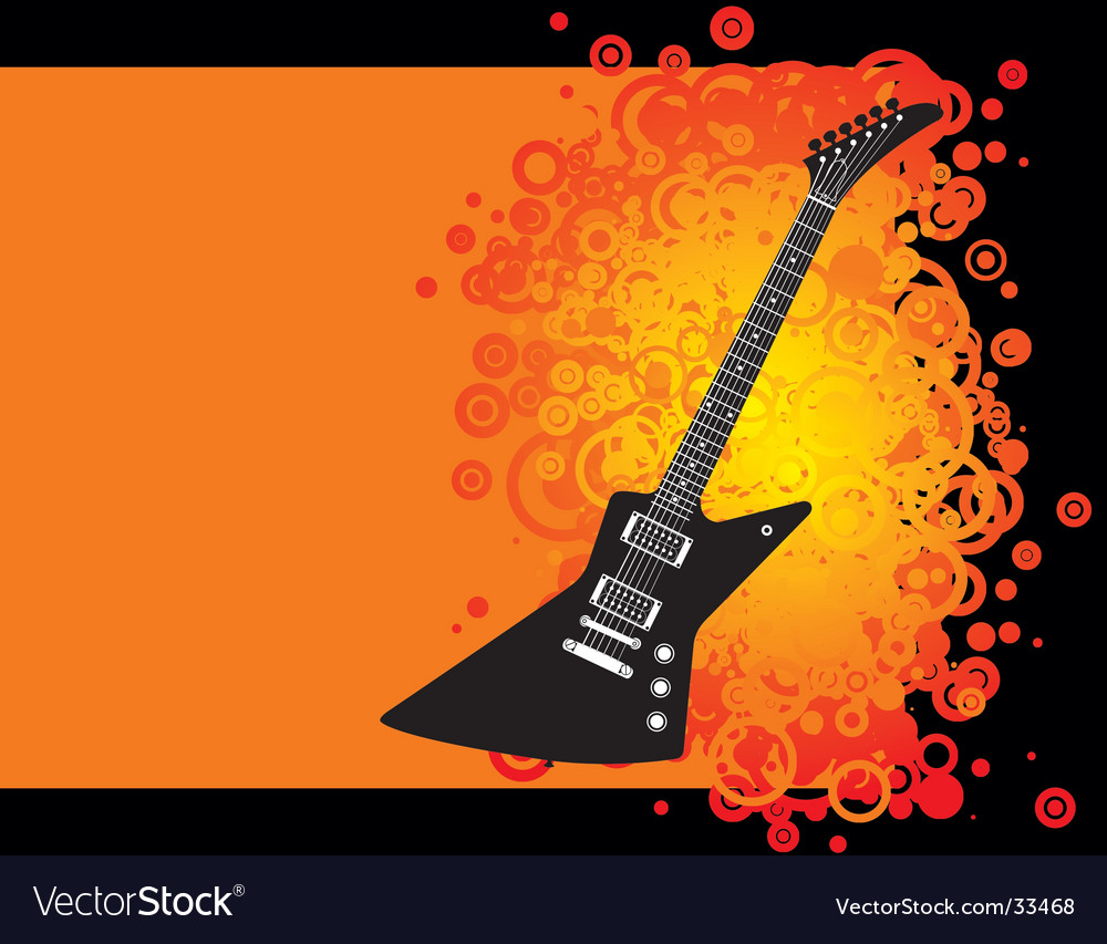 Guitar grunge vector | Price: 1 Credit (USD $1)