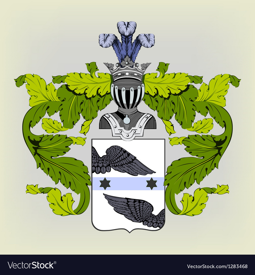 Heraldic coat of arms vector | Price: 3 Credit (USD $3)