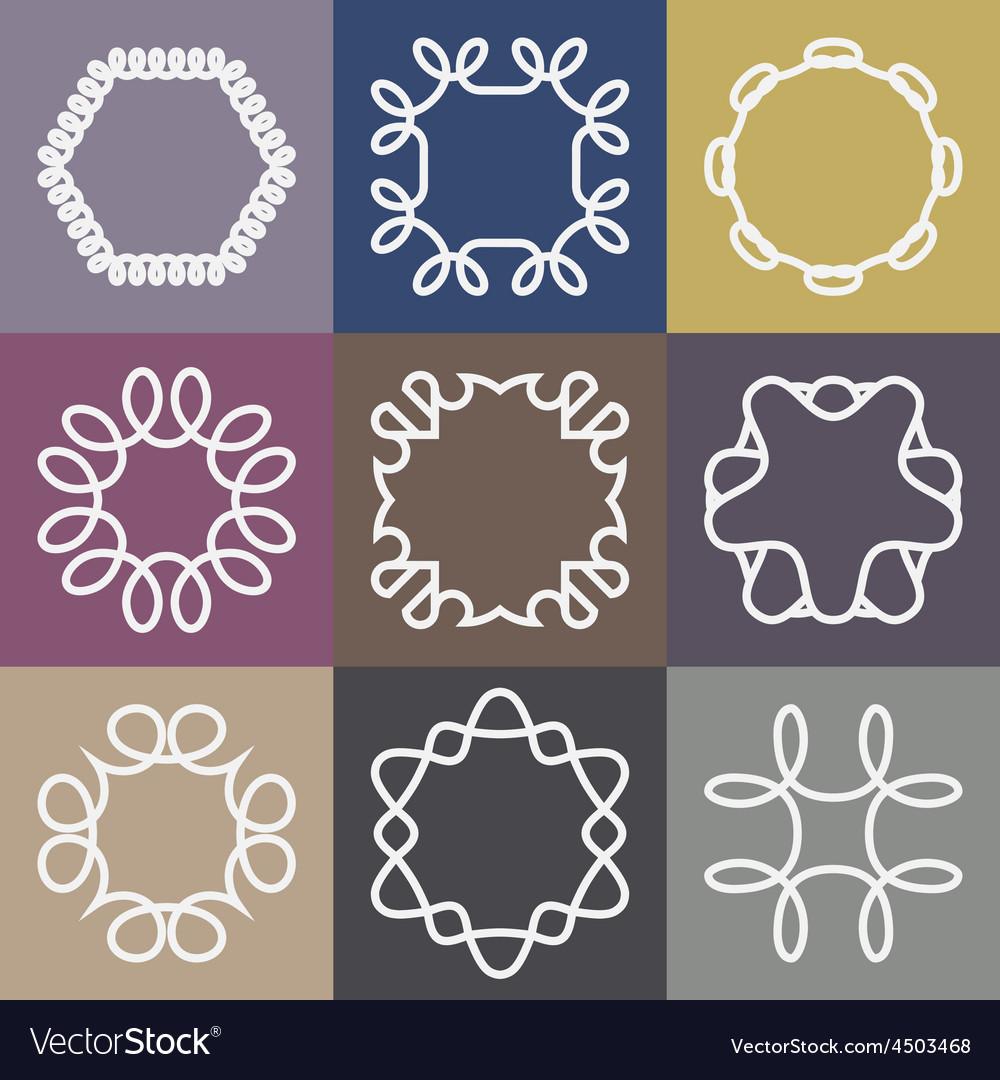 Hipster frames design templates set vector | Price: 1 Credit (USD $1)