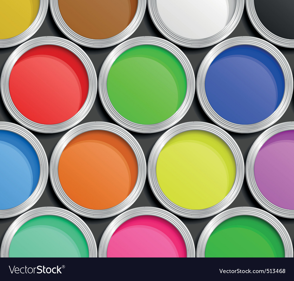Paint cans vector | Price: 1 Credit (USD $1)