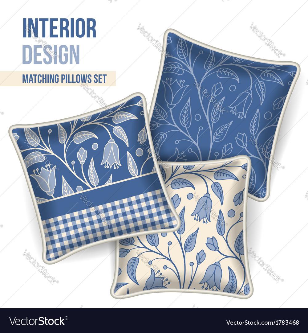 Set of decorative pillows vector   Price: 1 Credit (USD $1)