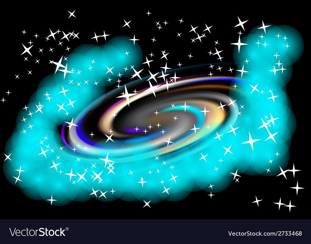 Spiral galaxy vector | Price: 1 Credit (USD $1)
