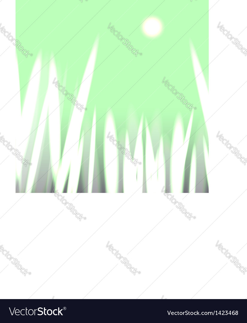 Sunlit grass silhouettes vector | Price:  Credit (USD $)