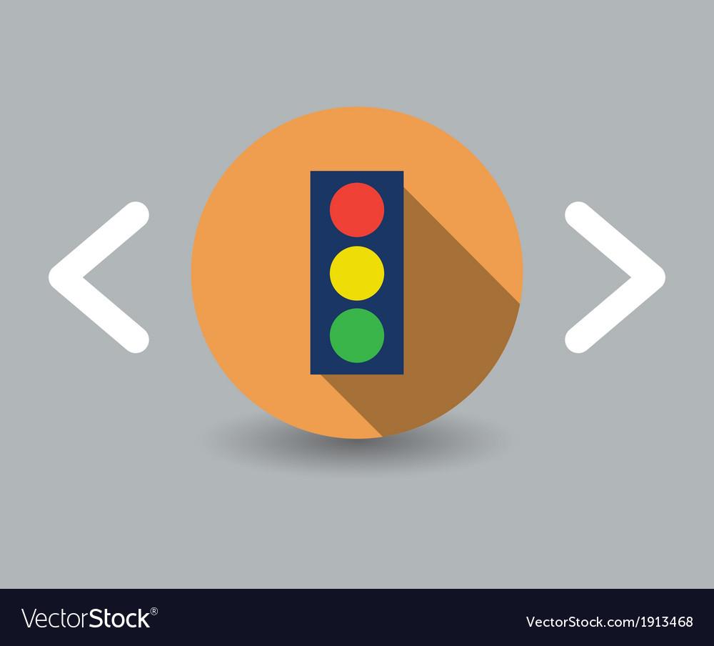 Traffic icon vector | Price: 1 Credit (USD $1)
