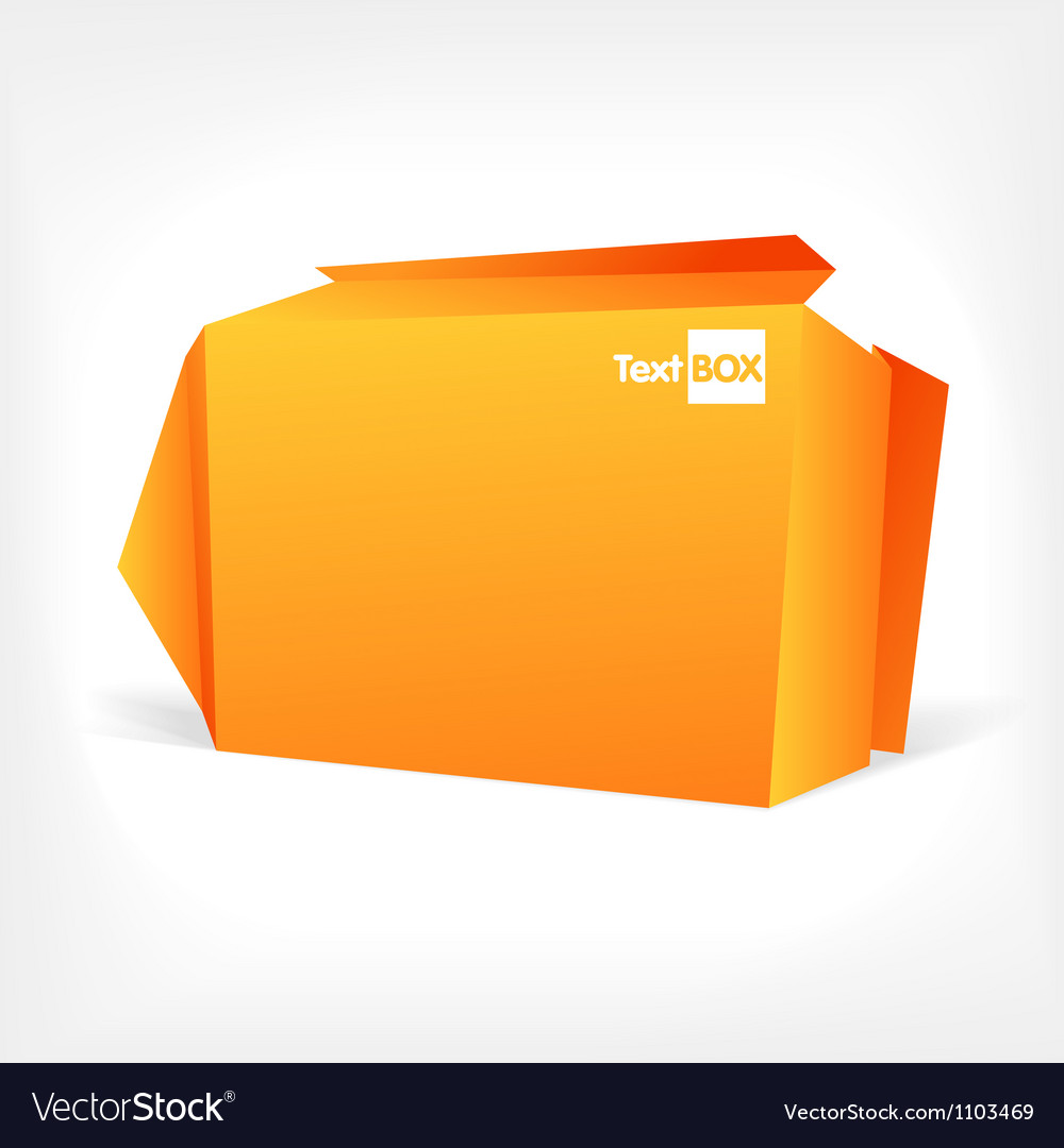 Background of polygonal origami box vector | Price: 1 Credit (USD $1)