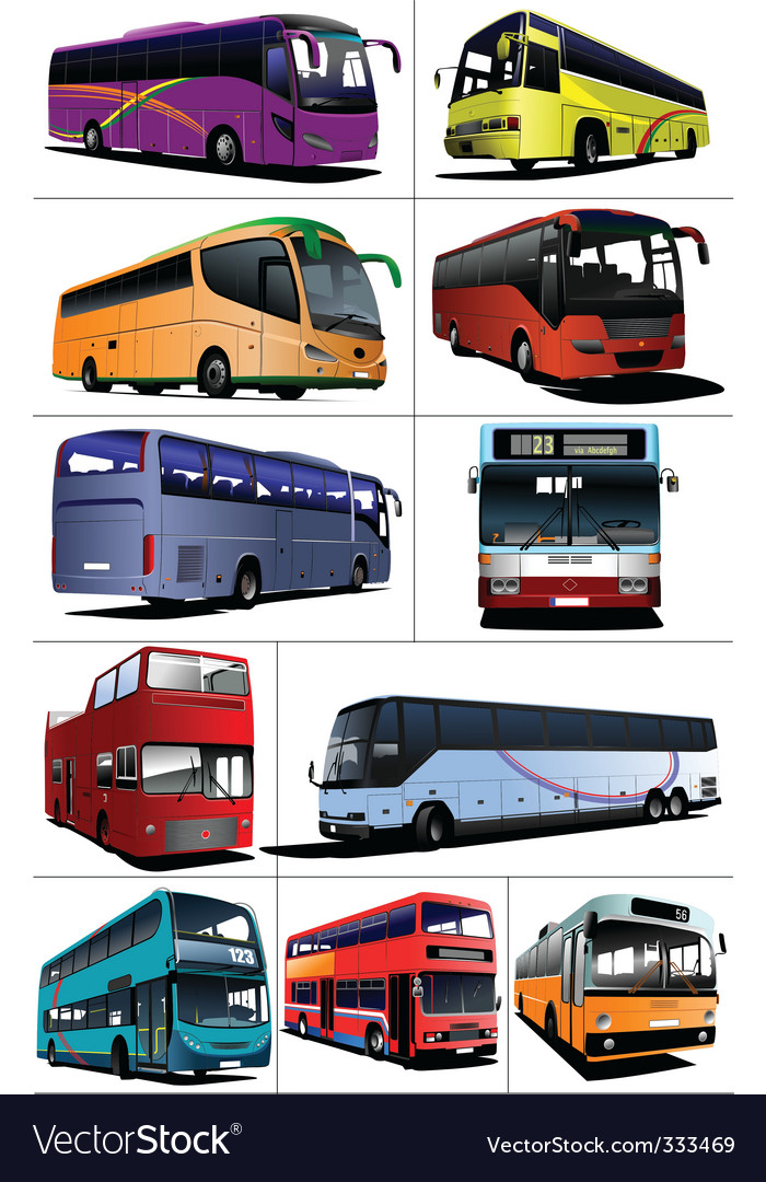 Buses vector | Price: 1 Credit (USD $1)