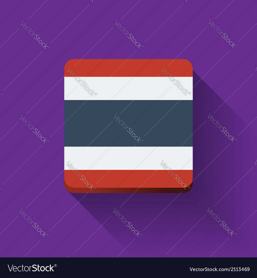Button with flag of thailand vector | Price: 1 Credit (USD $1)