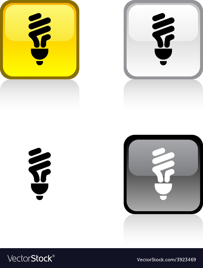 Fluorescent bulb button vector | Price: 1 Credit (USD $1)
