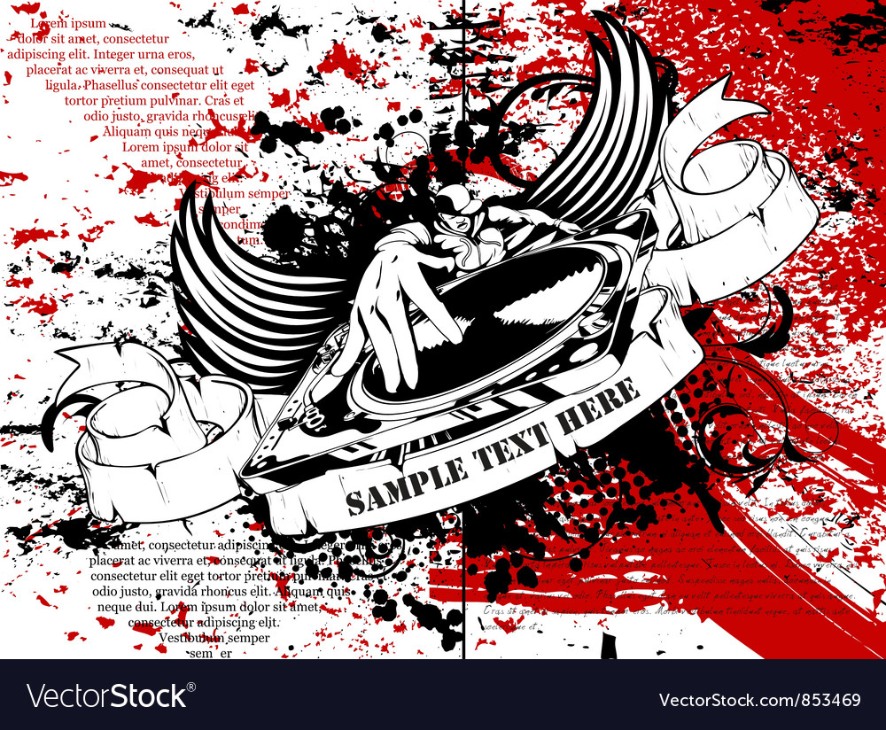 Grunge music poster vector   Price: 1 Credit (USD $1)