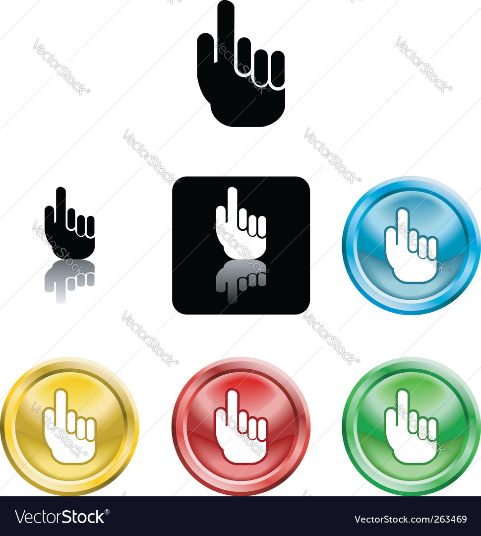 Hand icon symbol vector | Price: 1 Credit (USD $1)