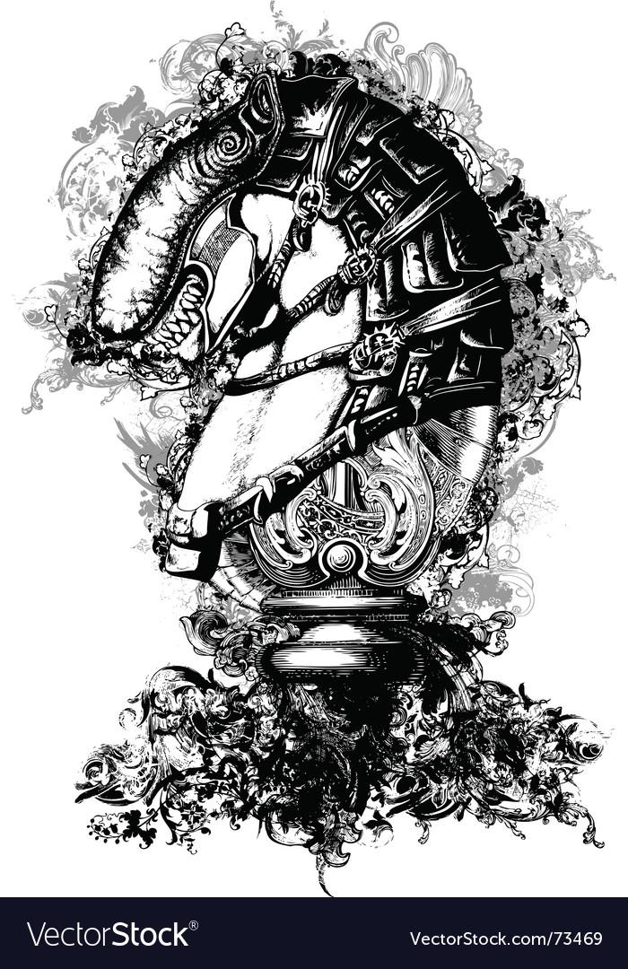 Horse tech illustration vector | Price: 1 Credit (USD $1)