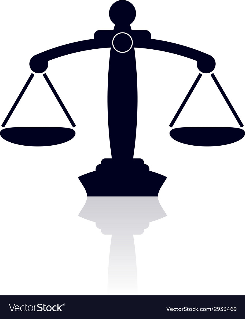 Scales of justice vector | Price: 1 Credit (USD $1)
