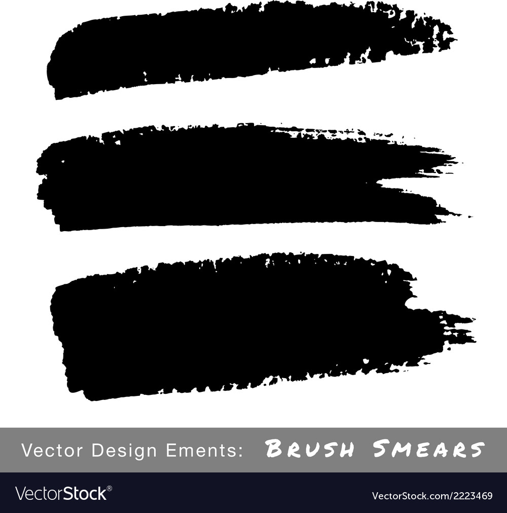 Set of hand drawn grunge brush smears vector | Price: 1 Credit (USD $1)